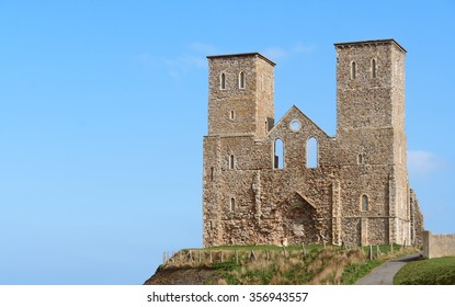 Reculver Towers - long view.