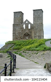 Reculver Towers & Roman Fort, west end, Kent, UK