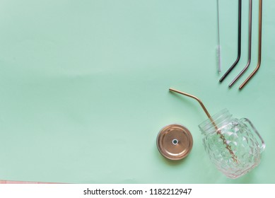 recyclable straws isolated