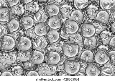 recycle aluminum  metal to crushed and  scrap waste, abstract background to recycle concept