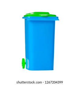 Recycle Bin Isolated on White Background.