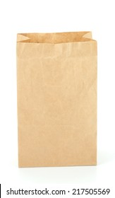 recycle brown paper bag isolate on white