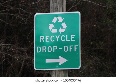 RECYCLE DROP OFF SIGN