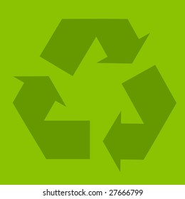 Recycle green symbol illustration, ecology, environmental conservation [Photo Illustration]