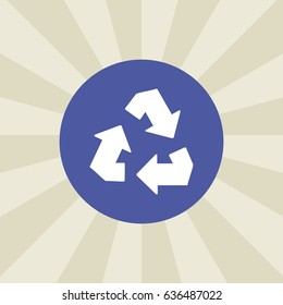 recycle icon. sign design. background