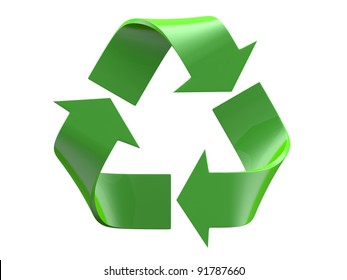 Recycle isolated on a white background