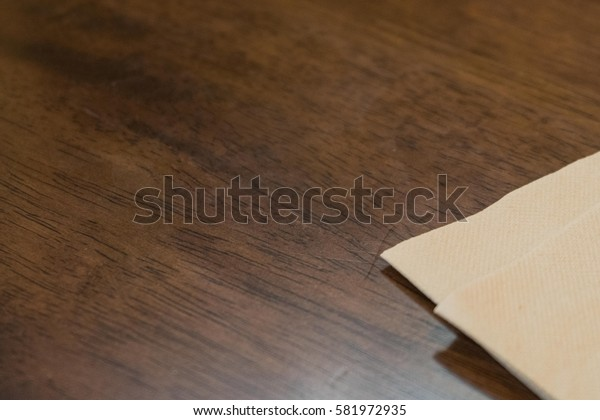 recycle napkins tissue on the wooden table