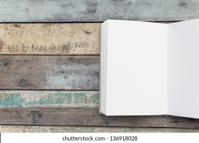 Recycle notebook on grunge background