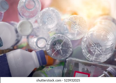Recycle plastic bottle, waste management concept.