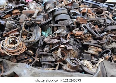 Recycle spare parts at junkyard