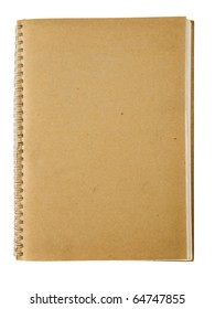 Recycle spiral notebook isolated on white background