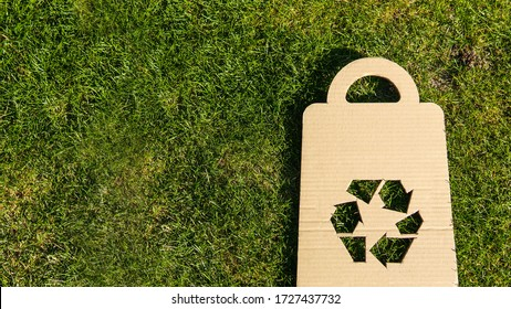 Recycle symbol , new life to old things concept