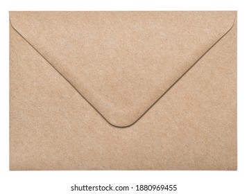 Recycled craft paper envelope isolated on white background - Shutterstock ID 1880969455