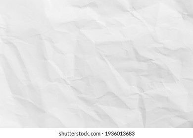 Recycled crumpled white paper texture or paper background for design with copy space for text or image - Shutterstock ID 1936013683