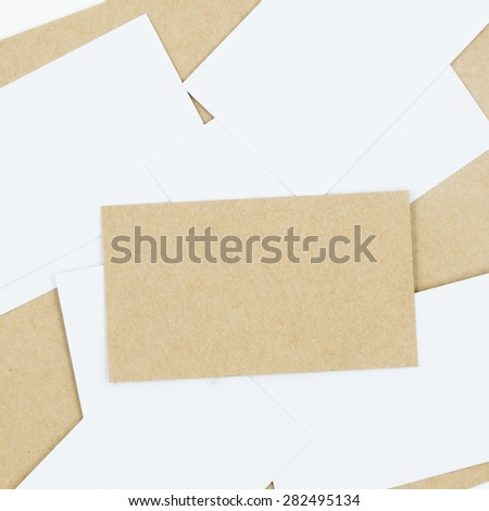 Recycled Paper Business Cards Mock Stock Photo Edit Now 282495134