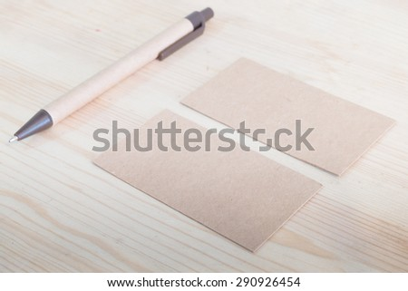 Recycled Paper Business Cards Mock Stock Photo Edit Now 290926454
