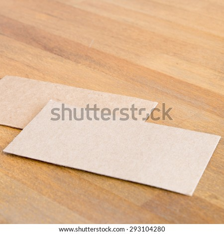 Recycled Paper Business Cards Mock Stock Photo Edit Now 293104280