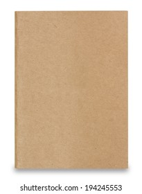 recycled paper notebook front cover with clipping path.