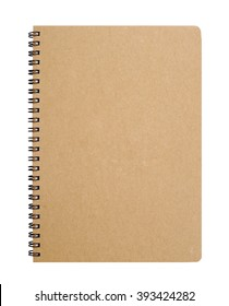 Recycled paper notebook front cover, clipping path.