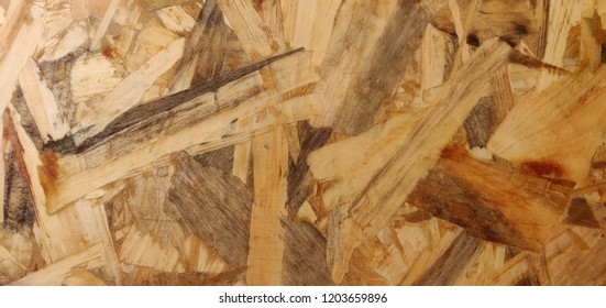 Recycled pressed wood background.