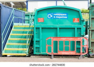 Recycling container at Suffolk recycling centre