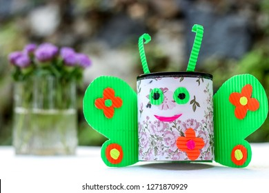 Recycling and Crafting Ideas Made of Milk Can and Kokoru Paper