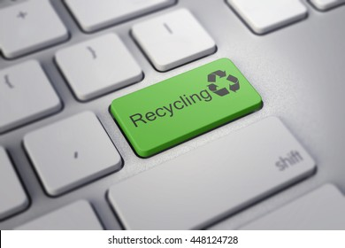 Recycling enter key in green