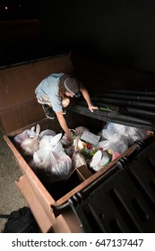 Recycling a grocery store's waste food by harvesting out of the garbage dumpster