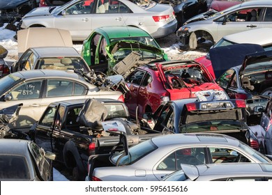 Recycling of old,used, wrecked cars. Dismantling for parts at scrap yards and sending for remelting.