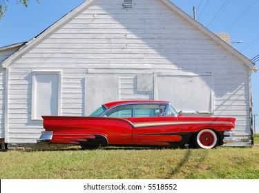 Red 1950 Vintage Automobile
