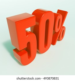 Red 50% 3d Percentage Sign on White Background, Special Offer 50% Discount Tag, Sale Up to 50 Percent Off, Special Price Offer Label for Social Media, Posters, Email, Print, Ads