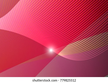 Red abstract template for card or banner. Metal Background with waves and reflections. Business background, silver, illustration. Illustration of abstract background with a metallic element