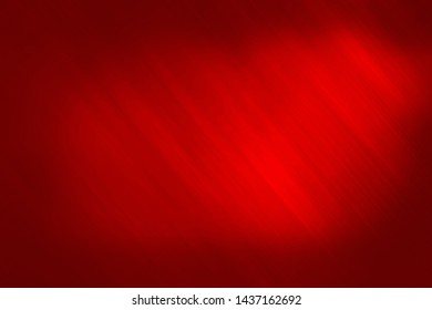 red advertising board with light effect