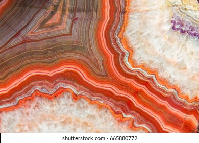 Red agate mineral