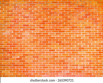 red aged brick wall texture background