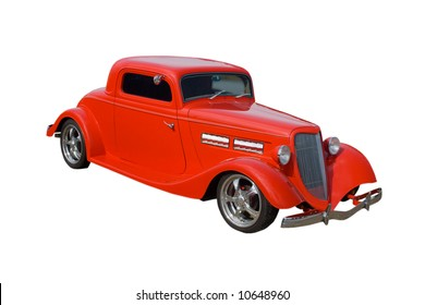 red American hot-rod with suicide doors