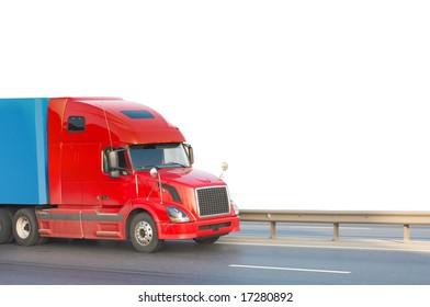 Red american truck of my trucks series
