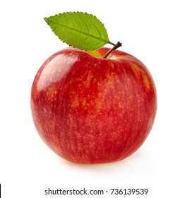 Red apple in closeup