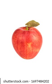 Red apple Gala isolated on the white background