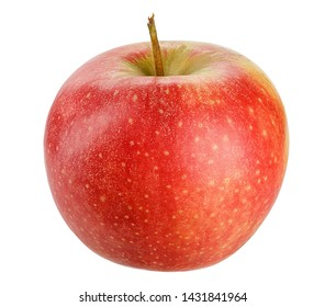 Red Apple for healthy lifestyle design  Isolated on White Background. Modern design. Fresh fruit. Field with Clipping Path.