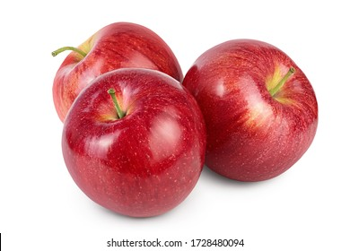 Red apple isolated on white background with clipping path and full depth of field