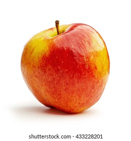 Red apple isolated on white background with clipping path.