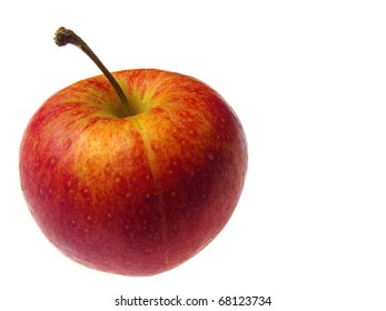 Red apple isolated over white background