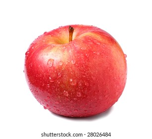 Red apple isoleted on white