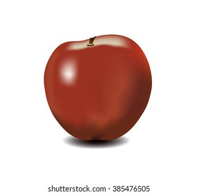 red apple, the nature and fruits
