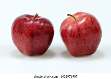 Red apple on white background - Image