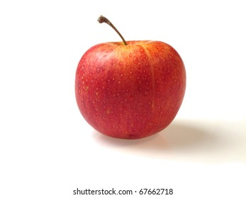 Red apple with shade isolated on white background