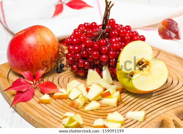 Red apples with cranberry