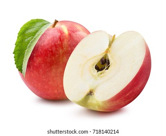 Isolated apples whole red apple fruit red apples isolated on a white background voltagebd Gallery