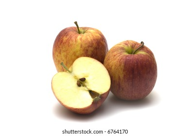 red apples on white background 3